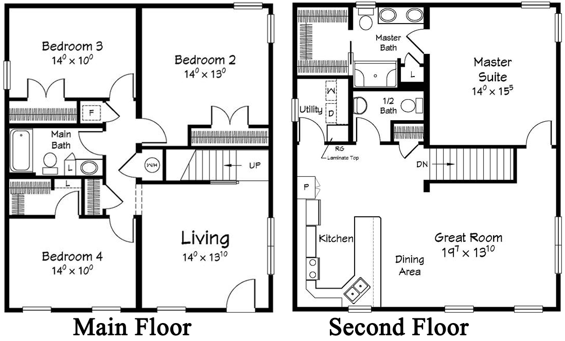 2 story modular homes floor plans house design ideas Two story house plans
